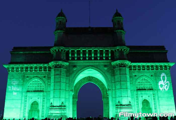 Gateway of India turns green in honour of St. Patricks Day