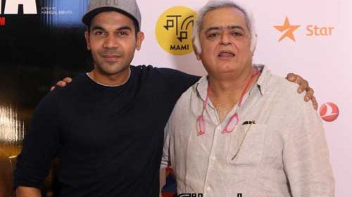 Rajkummar Rao, Hansal Mehta at Omerta screening