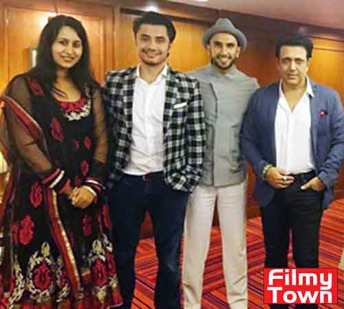 Tulsi Chaudhary with Ranveer Singh and Govinda