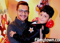 Aditya Narayan at Lil Wonder Jayas Kumar's birthday as he turns 7