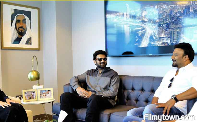 Saaho team in Abu Dhabi