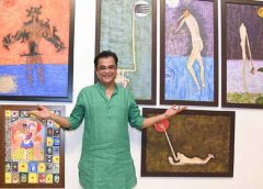 Man & the Moon: My Abstract Journey – Sanjay Chhel's painting exhibition