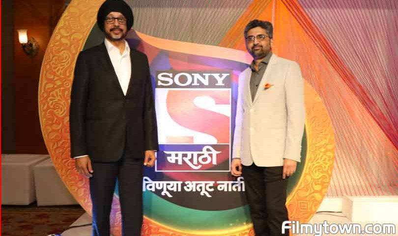 N P Singh, Ajay Bhalawankar at Sonly Marathi GEC launch