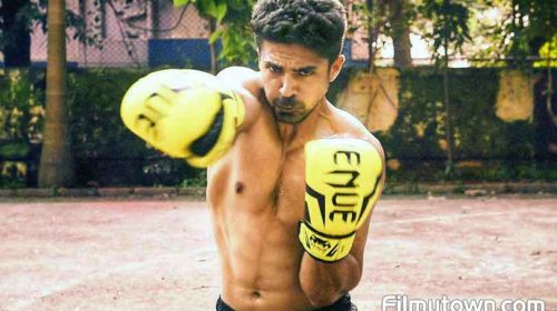 Saqib Salim is into kickboxing