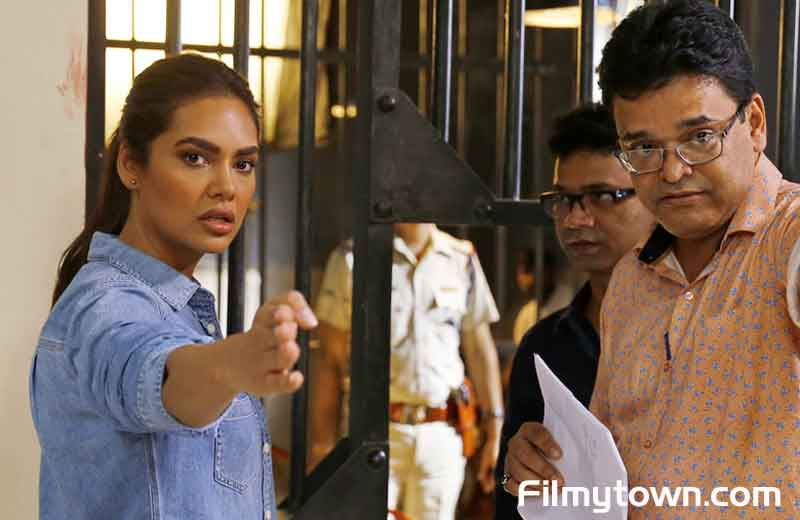 Esha Gupta with director Ashok Nanda