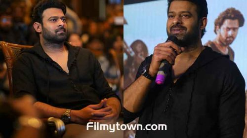 Prabhas in Bengaluru for Saaho promotions