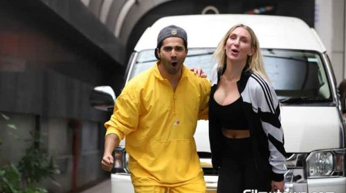 Charlotte Flair with Varun Dhawan