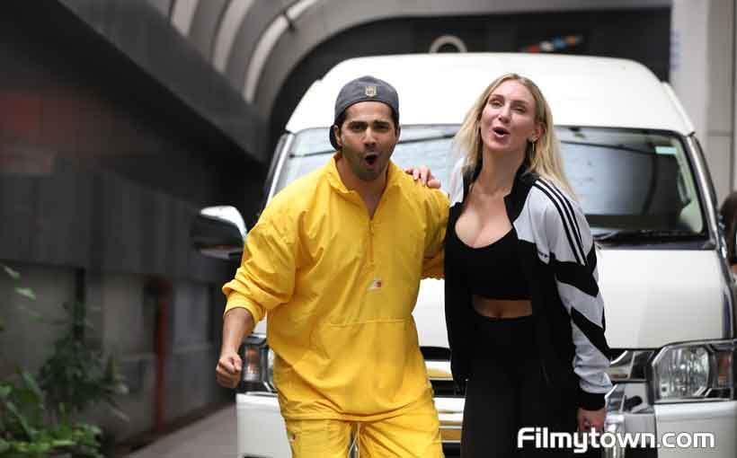 Charlotte Flair with Varun Dhawan