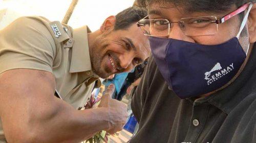 John, Milap during shoot of Satyameva Jayate 2