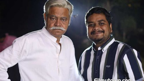 Raaj Aasho with Sanjay Mishra