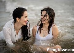Model- actress Rukhsar Rehman shoots with daughter Aisha in Goa