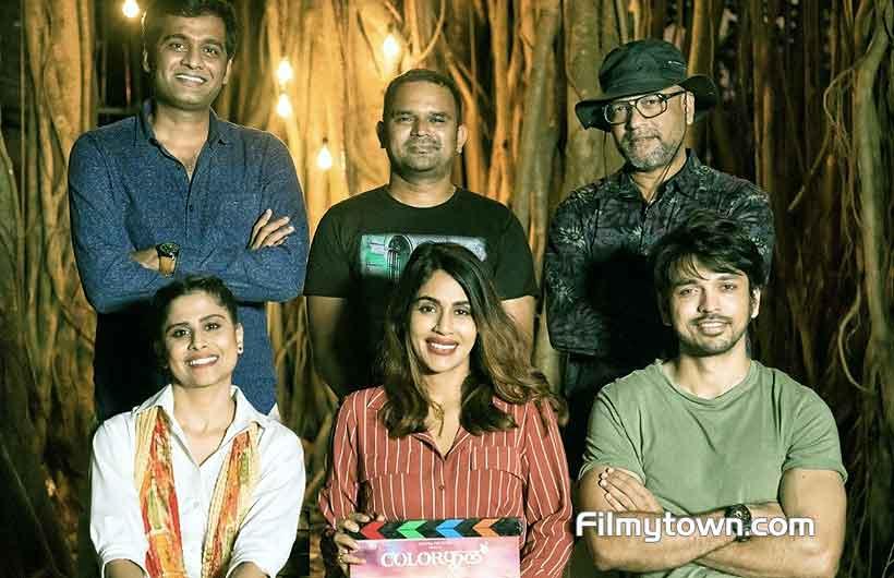 Sai Tamhankar, Lalit Prabhakar with team Colorphool