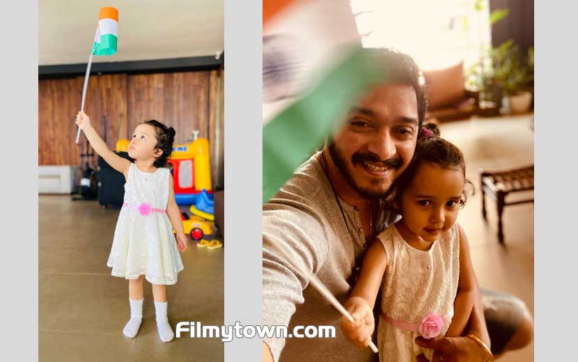 Shreyas Talpade and Aadya celebrating Republic Day