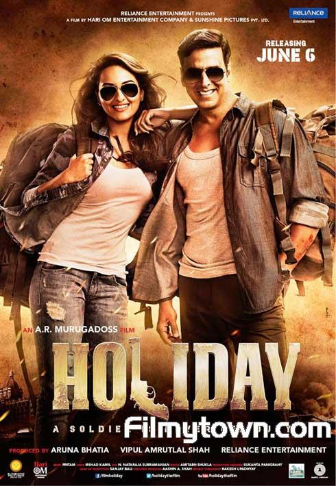 Holiday, hindi movie review, Akshay Kumar, Sonakshi Sinha