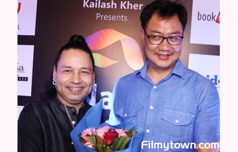 Kiran Rijuju on Kailash Kher Birthday