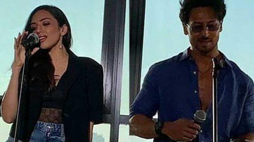 Raveena Mehta with Tiger Shroff