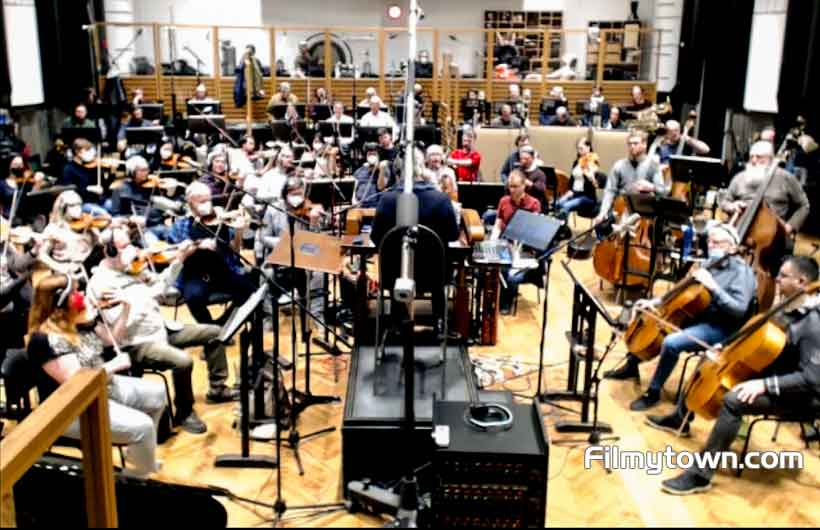 Live orchestra in Prague for title track of CHEHRE