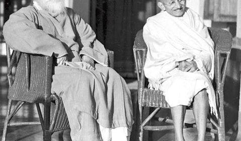 Rabindranath Tagore and Mahatma Gandhi - Ekla Chalo