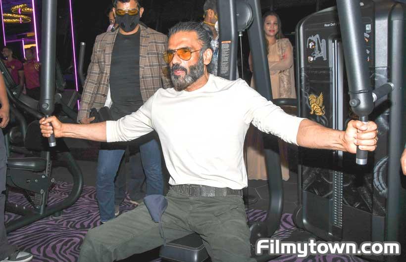 Suniel Shetty at Nitrro Bespoke Fitness launch in Powai